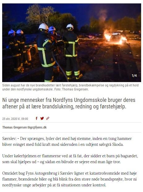 Brandkadetter, artikel d
