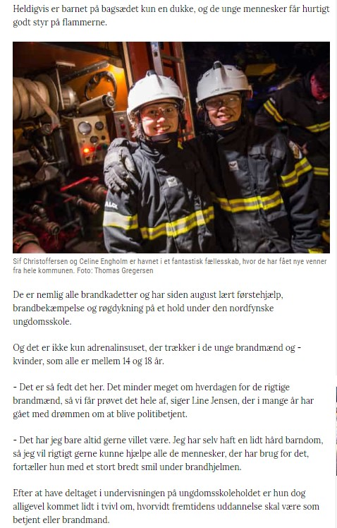 Brandkadetter, artikel c