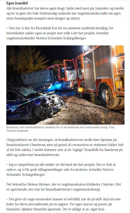 Brandkadetter, artikel a