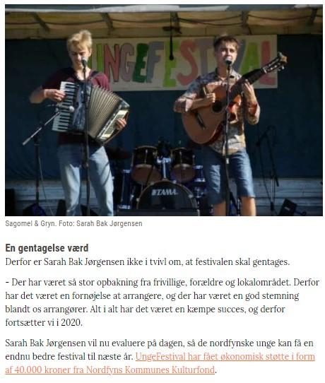 Ungefestival  2019 artikel b  Fyns Pressen siger